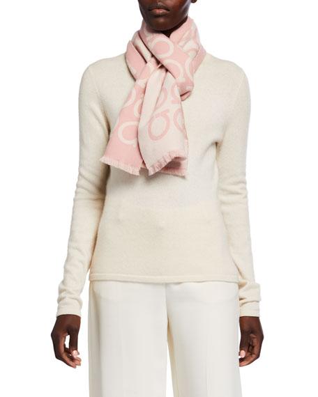 Gancio Reversible Wool Scarf