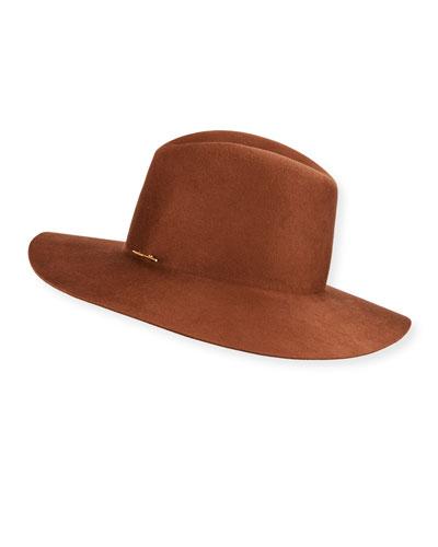Caden Wool Fedora Hat w/ Logo Pin