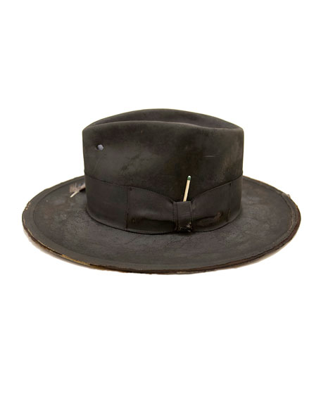 Image 1 of 1: The North End Distressed Beaver Felt Fedora Hat