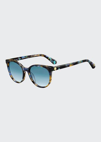 melanies round acetate sunglasses