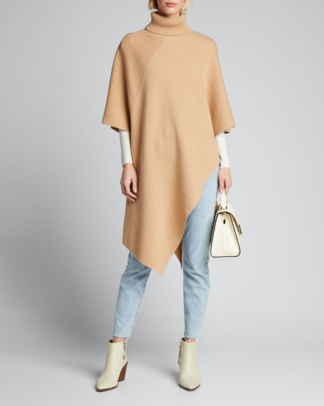 Image 1 of 1: Cashmere Turtleneck Cape