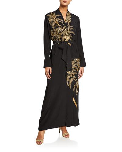 Olatz Crepe de Chine Kimono