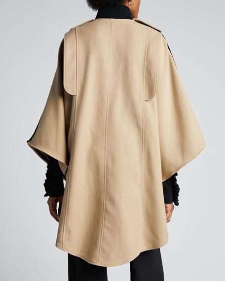 Snap-Front Cape Coat