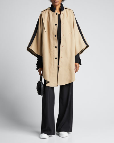Snap-Front Cape Coat