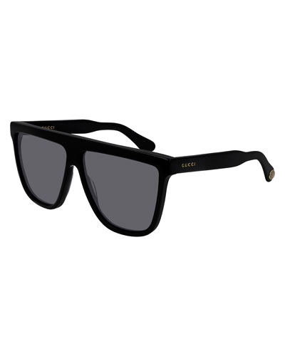 Flattop Square Acetate Sunglasses