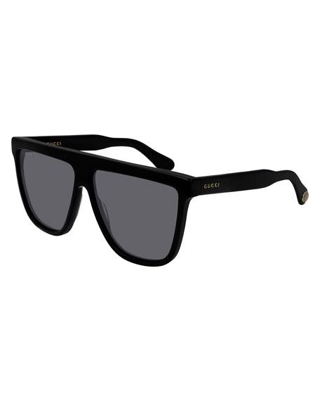 Flattop Square Acetate Sunglasses