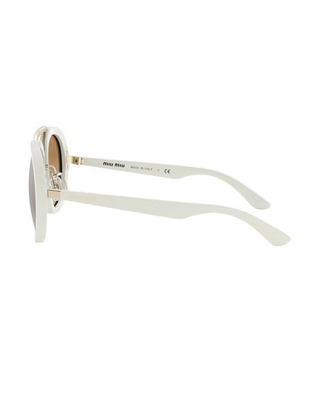 Mirror Acetate Aviator Sunglasses