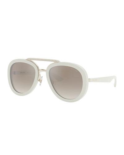 Mirror Acetate Aviator Sunglasses