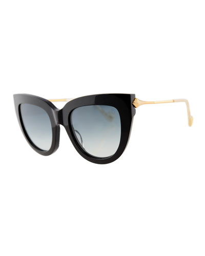 Lush Diamond Cat-Eye Sunglasses