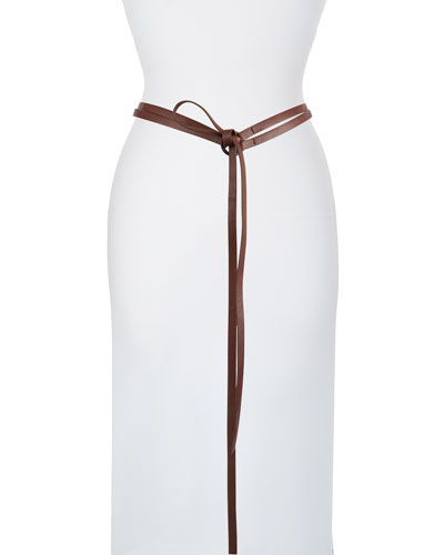 Minimal Goatskin Double-Tie Belt