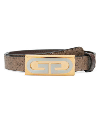 GG Plaque Canvas Belt