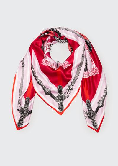 Lexi Double Sided Silk Scarf