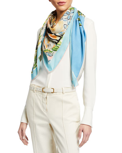 Afternoon In Beverly Hills Cashmere/Silk Scarf