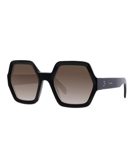 Hexagonal Acetate Gradient Sunglasses