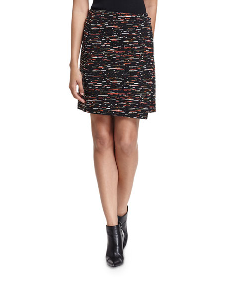 GREY by Jason Wu Asymmetric Tweed Wrap Skirt,