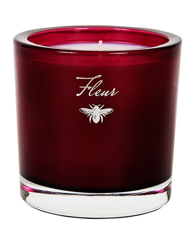 Modern Holiday 3 Wick Candle, Red