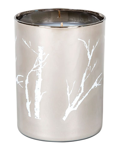 Modern Holiday Single Wick Candle, White