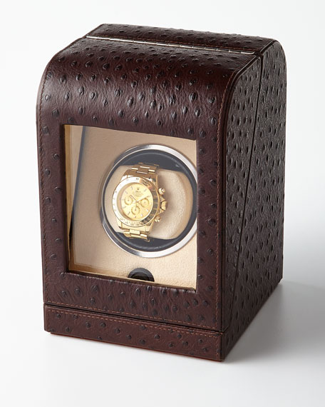 Ostrich-Print Single Watch Winder