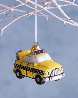 BG Taxi Christmas Ornament