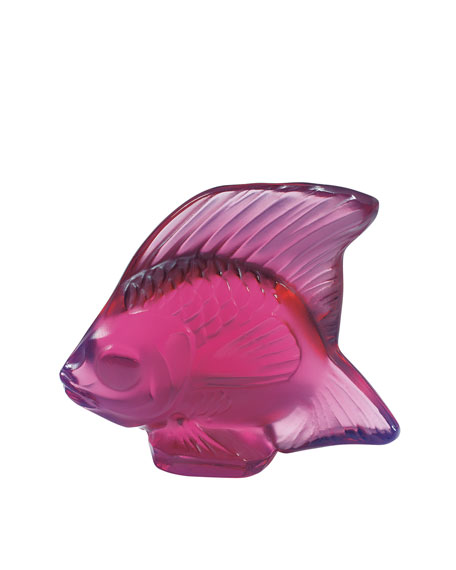 Lalique Fuchsia Fish