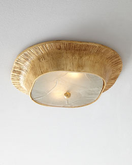 Utopia Fractured Glass Flush-Mount Ceiling Light