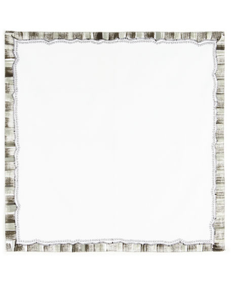 BRUSHED BORDER NAPKIN