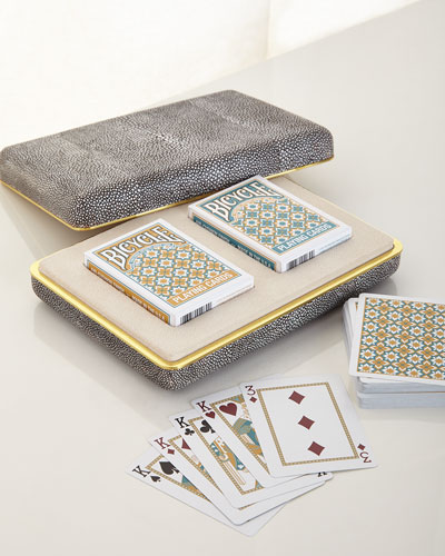 Chocolate Shagreen Card Set