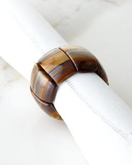 Tiger Eye Band Napkin Ring