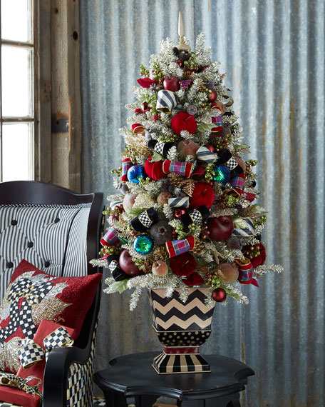 MacKenzie-Childs Holiday Frost Tabletop Christmas Tree