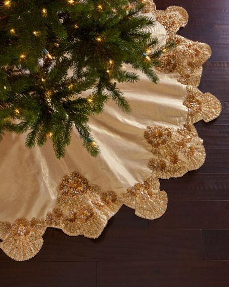 Kim Seybert Trevi Christmas Tree Skirt