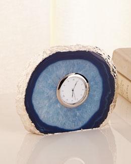 Tempo Silver-Edge Azure Clock