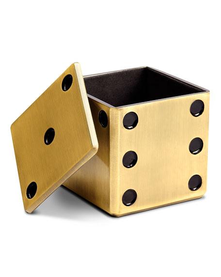 GOLD DICE DECORATIVE BOX