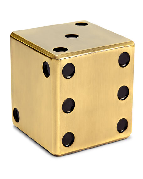 GOLD DICE DECORATIVE BOX