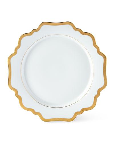 Antiqued White Dinner Plate