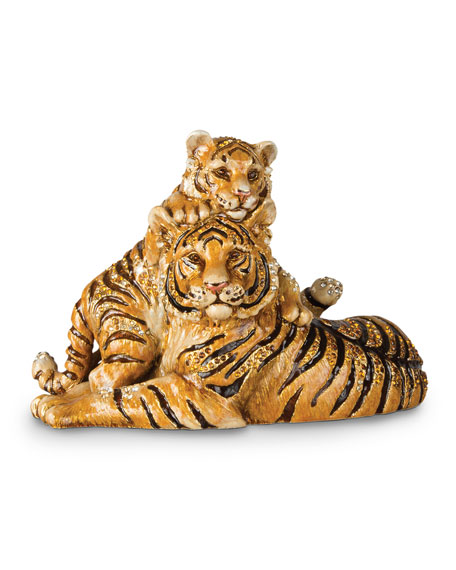 Jay Strongwater Mother & Baby Tiger Figurine