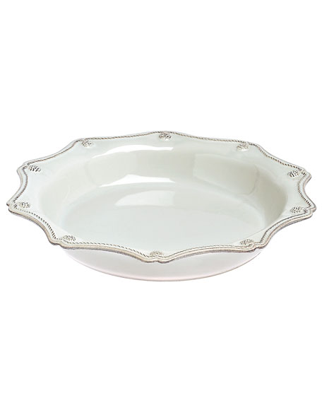 Juliska Berry & Thread Whitewash Pie/Quiche Dish