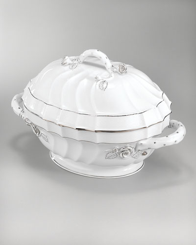 Platinum Edge Soup Tureen