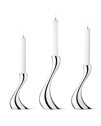 Cobra Candleholders  3-Piece Set
