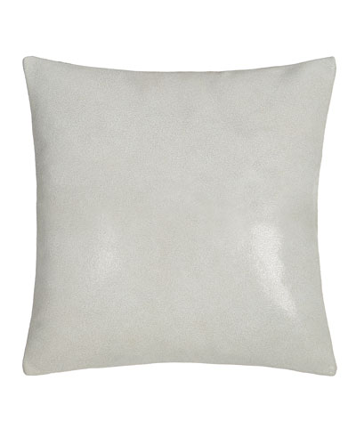 Clear Lacquer Print Leather Pillow  16Sq.