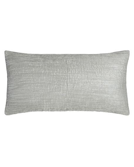 "Metallic-Print Pleated Pillow, 11"" x 22"""