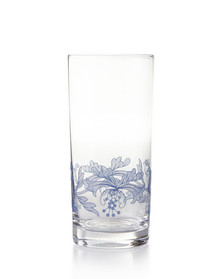 Blue Italian Highballs, Set of 4