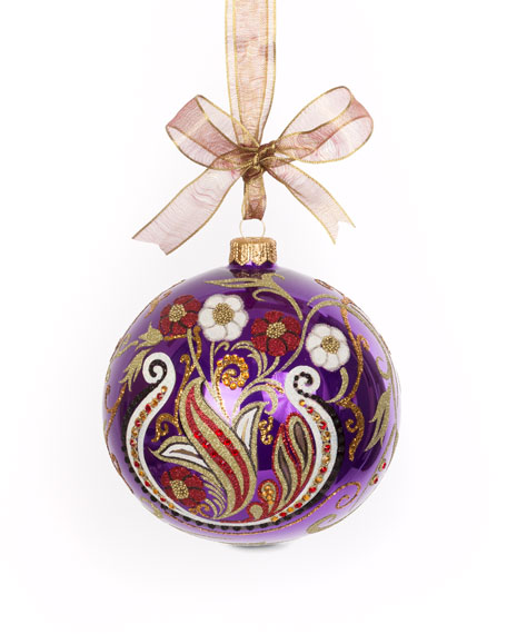 Paisley Artisan Glass Ornament