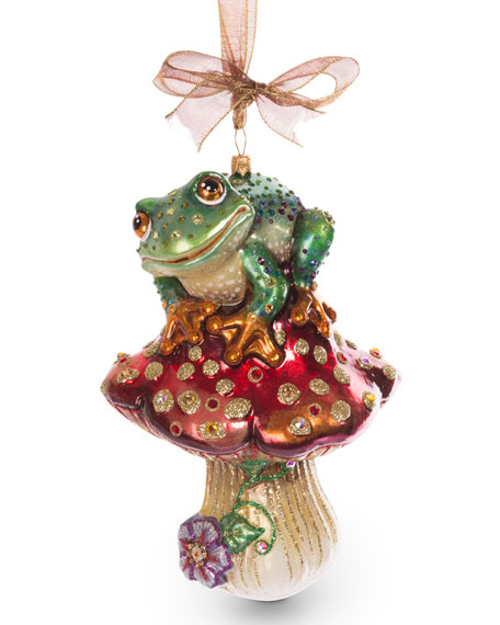 Frog on Mushroom Ornament