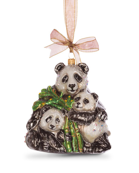 Mother Baby Panda Ornament