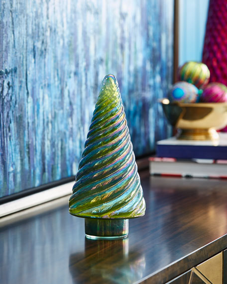 Cody Foster & Co Opalescent Green Tree, 12