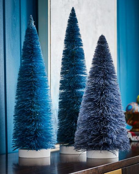Set of 3 Large Trees, Blue