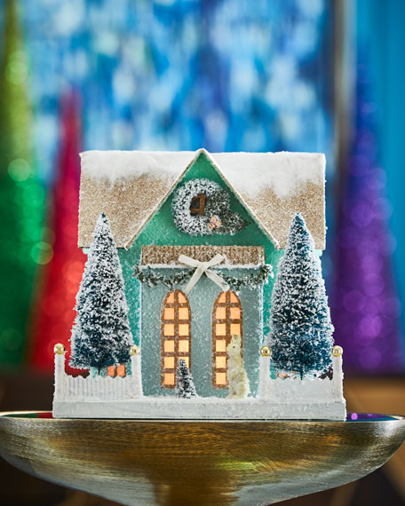 Cody Foster & Co Frosty Cottage Collectible