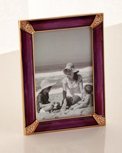 Pave Corner Picture Frame Brocade  4 x 6