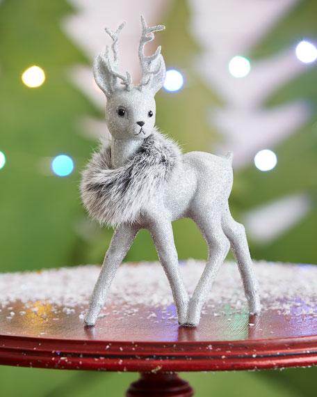 Silvertone Reindeer Collectible, Small