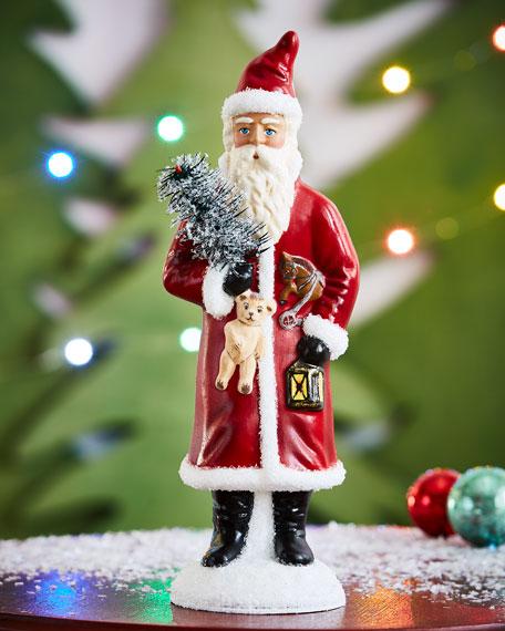 """Vintage Santa"" with Lantern Collectible"